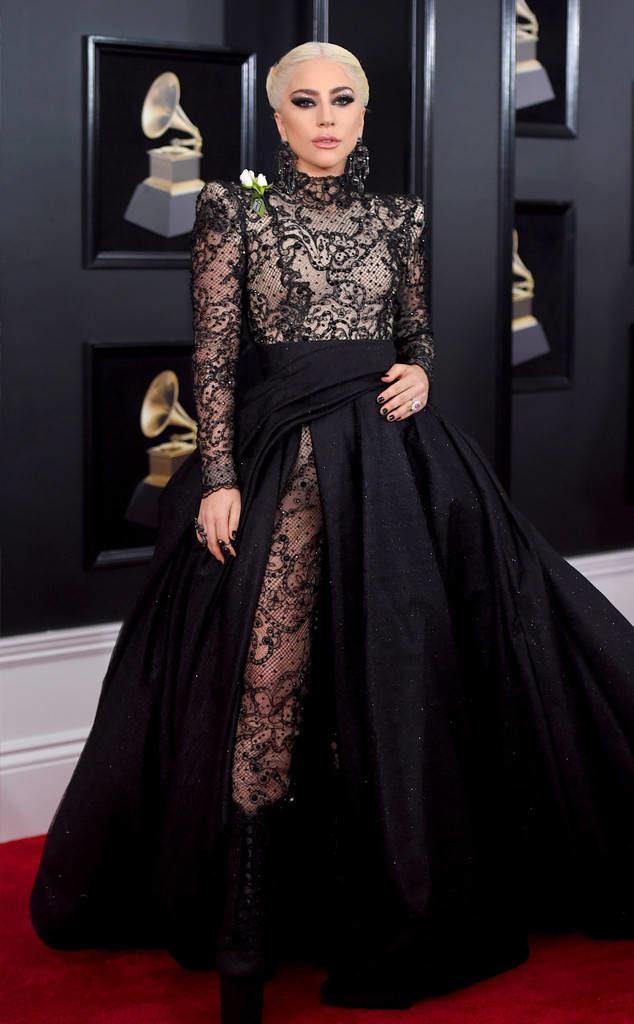 Lady Gaga in Armani Privé at the 2018 Grammy Awards