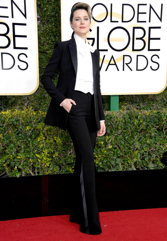 Evan Rachel Wood at the 2017 Golden Globes