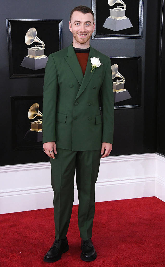 Sam Smith at the 2018 Grammy Awards