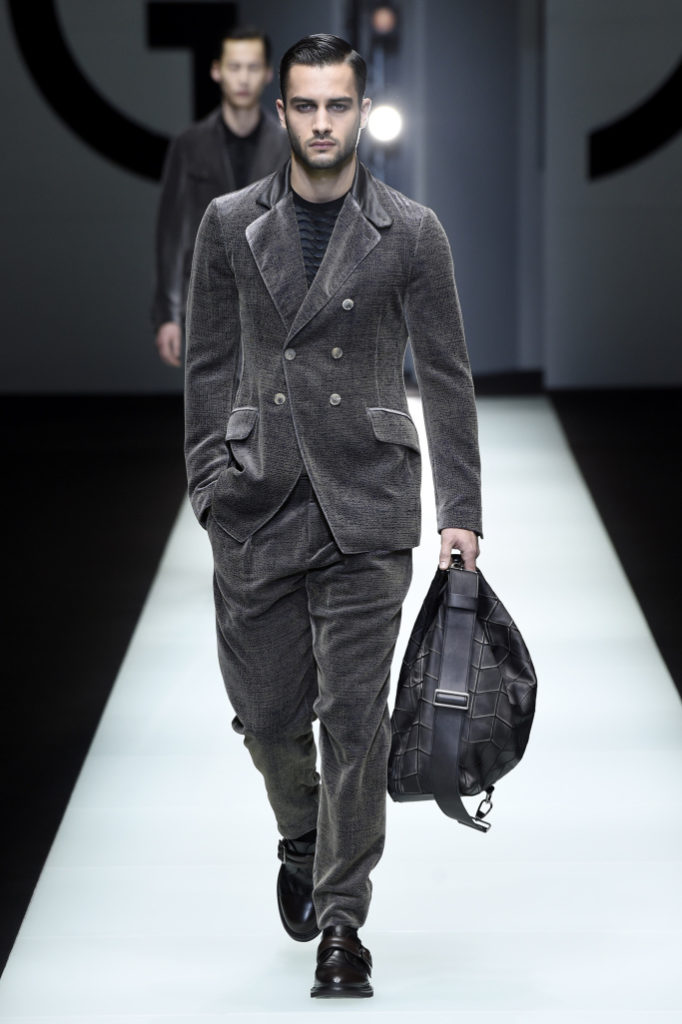 Giorgio Armani Men's Fall 2018- Milan Fashion Week