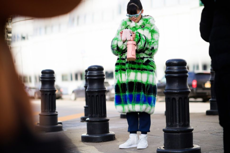 New York Fashion Week Fall 2018 street style is all about the coat!