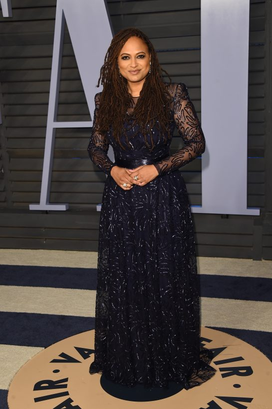 Ava DuVernay in a very demure but sexy Vera Wang dress at the Oscars
