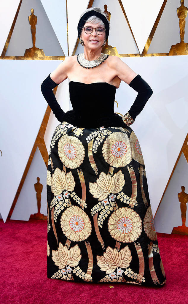 Rita Moreno proved that what's old is new wearing her original dress from her appearance at the 1962 Oscars dress