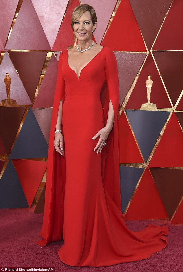 It's always better to be more vampy than trampy and Allison Janney wearing the hell of of her Reem Acra Elvira-inspired dress hit a home run at the 2018 Oscars