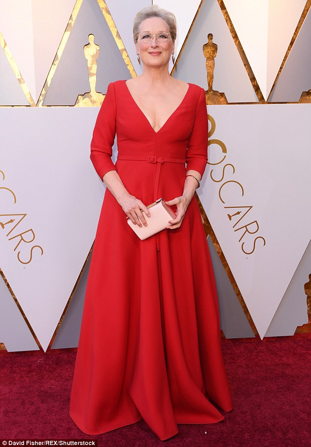 A classic wearing a classic! Meryl Streep in Christian Dior at the 2018 Oscars