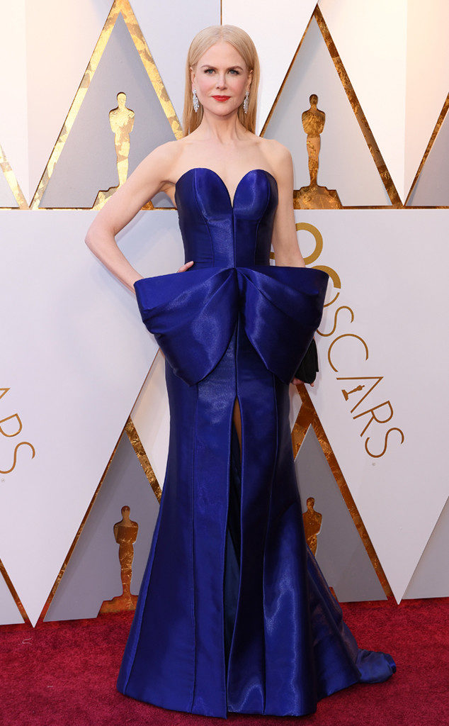 Nicole Kidman in Armani Privé stole the show and elevated the bar for red carpet appearances at the Oscars