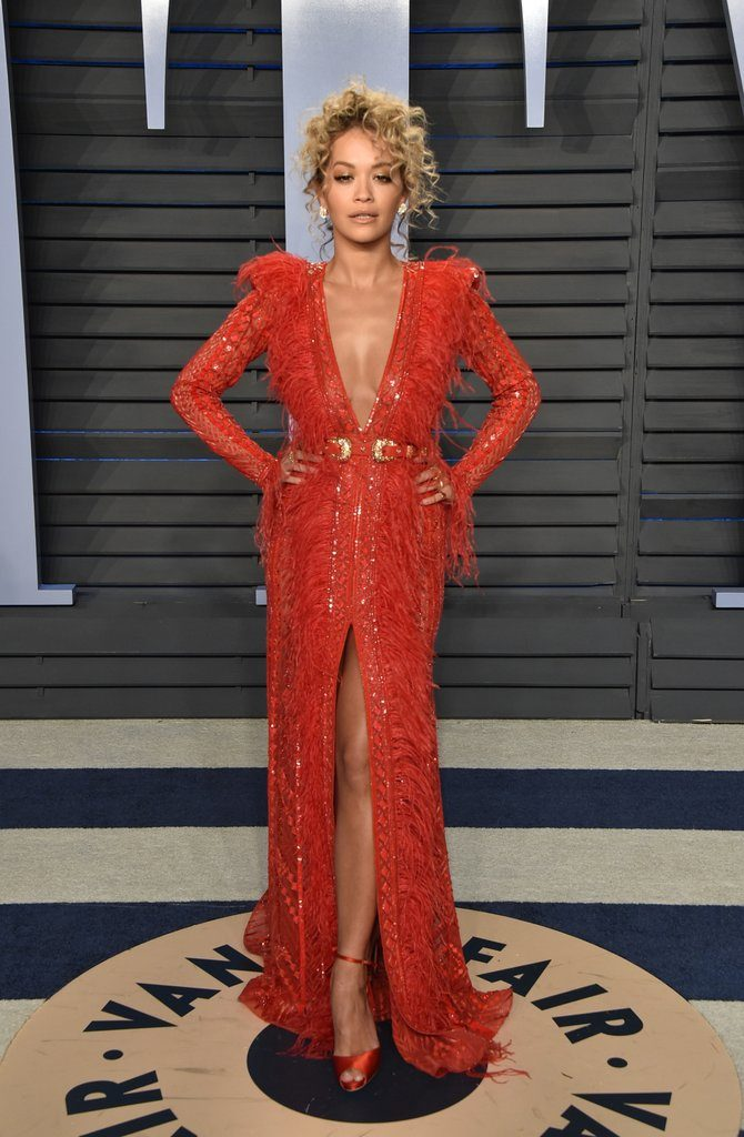 Rita Ora always delivers from head to toe at the 2018 Oscars