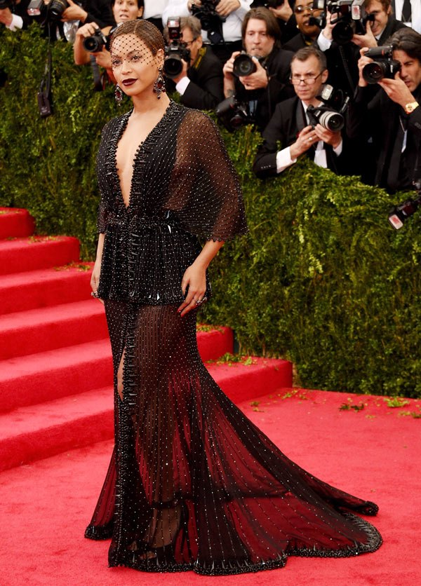 Beyoncé's sheer black Givenchy for the 2014 Met Gala Ball