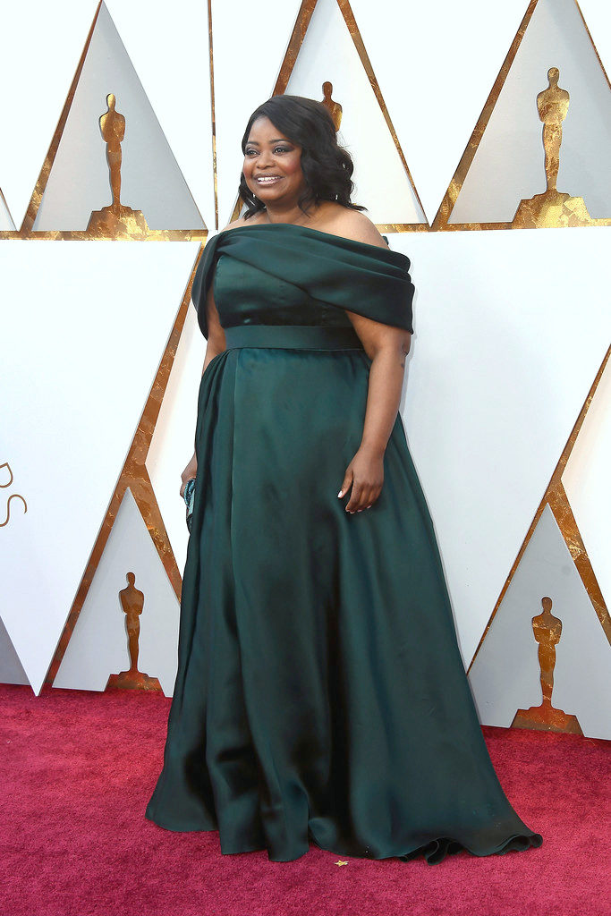 Octavia Spencer in Brandon Maxwell at the 2018 Oscars