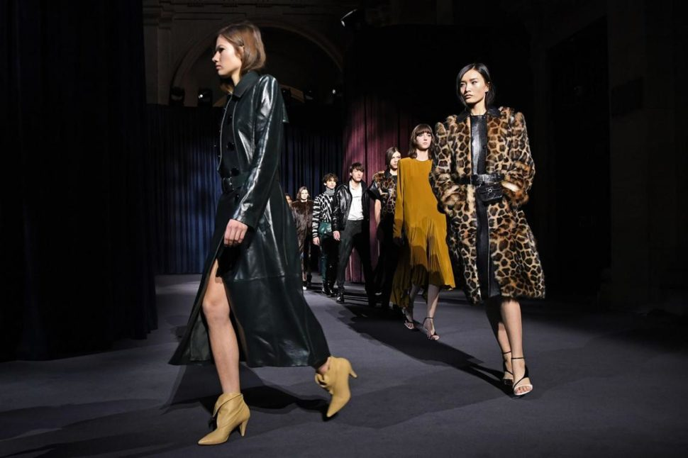 Givenchy runway finale during the women's 2018/2019 fall/winter Paris Fashion Week shows