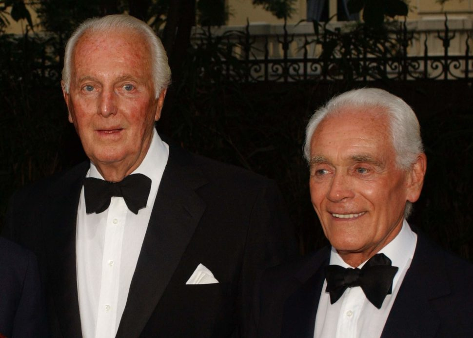 Givenchy(L) with longtime partner Philippe Venet