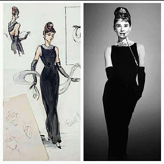 Hubert de Givenchy for Audrey Hepburn in Breakfast at Tiffany 's (1961).