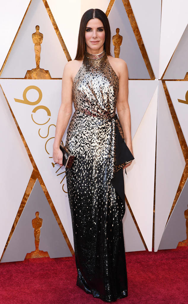 Sandra Bullock in Louis Vuitton at the 2018 Oscars