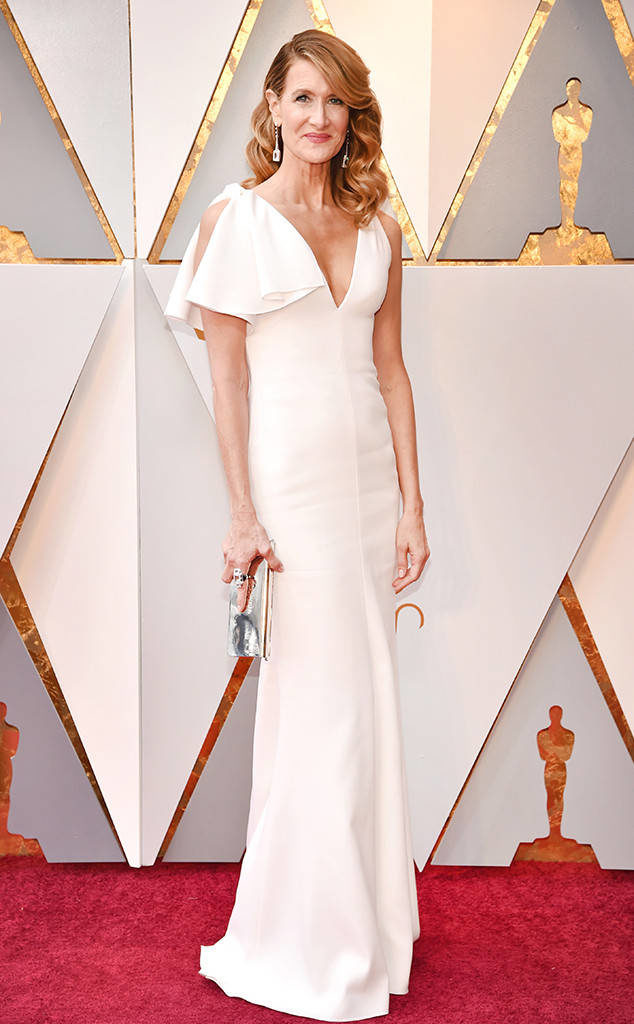 Laura Dern and her Calvin Klein by Appointment gown proved that simple can be scorching at the Oscars