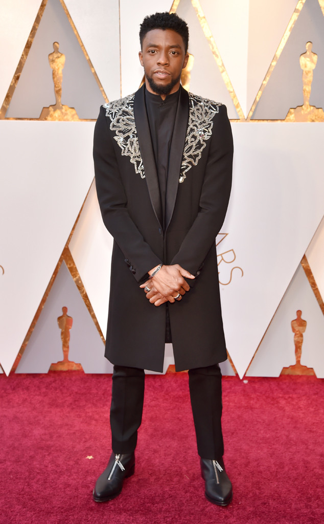 Chadwick Boseman who shone brightest at this year's Oscars wearing a custom Givenchy design