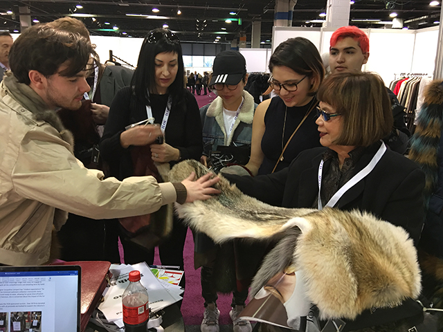 Students from the School of the Art Institute of Chicago, with their instructor Liat Smestad, learning about the unique properties of fur at ILOE