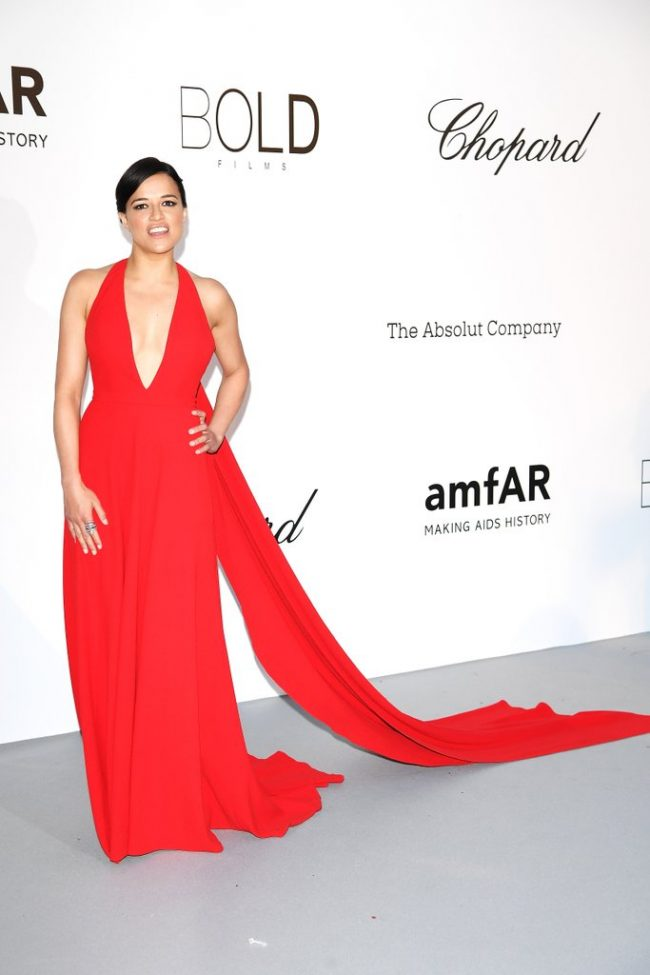 Michelle Rodriguez in Romona Kevezaat the 2018 Cannes Film Festival