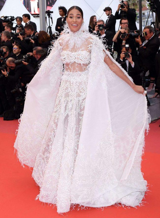 Cindy Bruna in Ashi Studio Couture at 2018 Cannes Film Festival