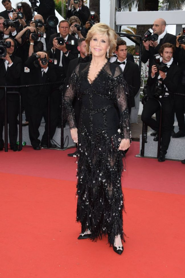 Jane Fonda in Givenchy at the 2018 Cannes Film Festival