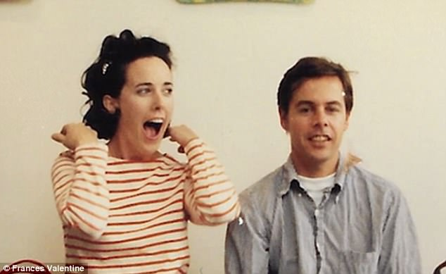 Kate SPade and husband in 1993
