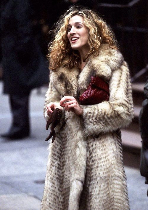 Carrie Bradshaw and her infamous fur coat from Sex and the City