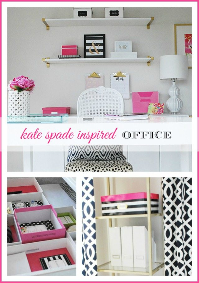 Kate Spade inspired office supplies collection