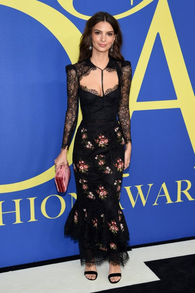 Emily Ratajkowski in Brock Collection at 2018 CFDA Awards