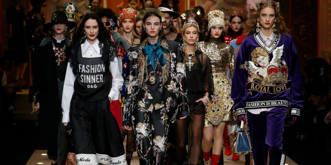 Fall 2018 Courtesy of Milan Fashion Week- Dolce and Gabbana