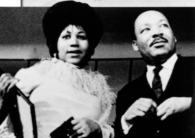 Aretha Franklin and the great Martin Luther King Jr.