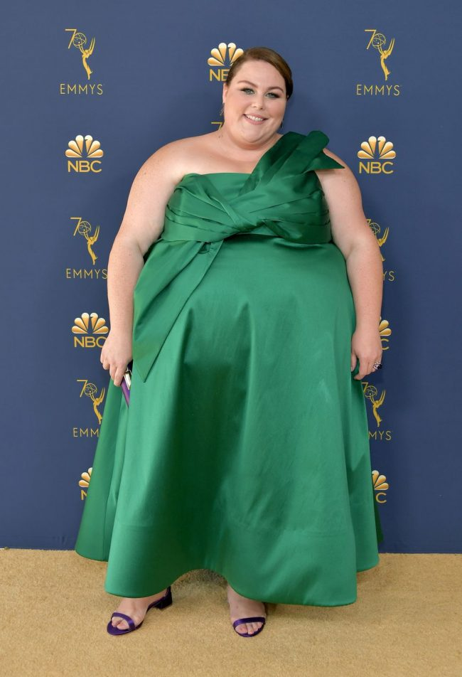 Chrissy Metz in a custom John Paul Ataker gown at the 2018 Emmy Awards