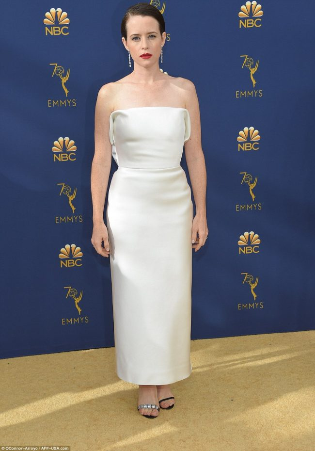 Claire Foy at th 2018 Emmy Awards