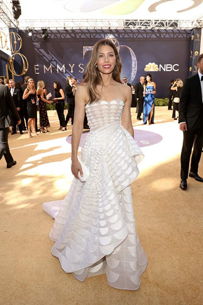 Jessica Biel at the 2018 Emmy Awards