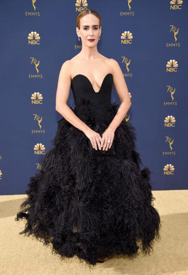 Sarah Paulson at 2018 Emmy Awards