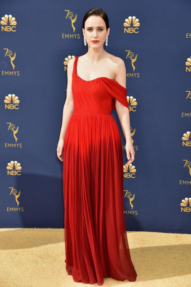 Rachel Brosnahan at the 2018 Emmy Awards
