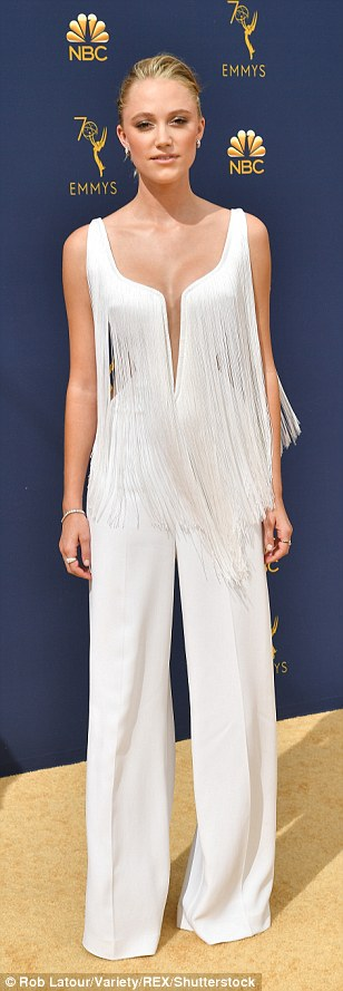 Maika Monroe at 2018 Emmy Awards
