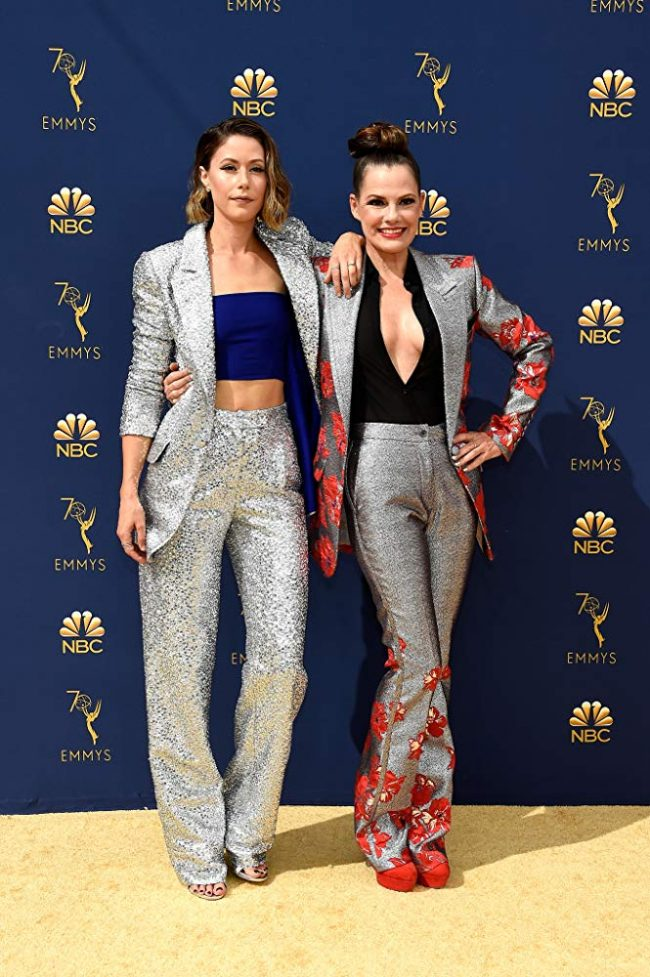 Suzanne Cryer and Amanda Crew at 2018 Emmy Awards