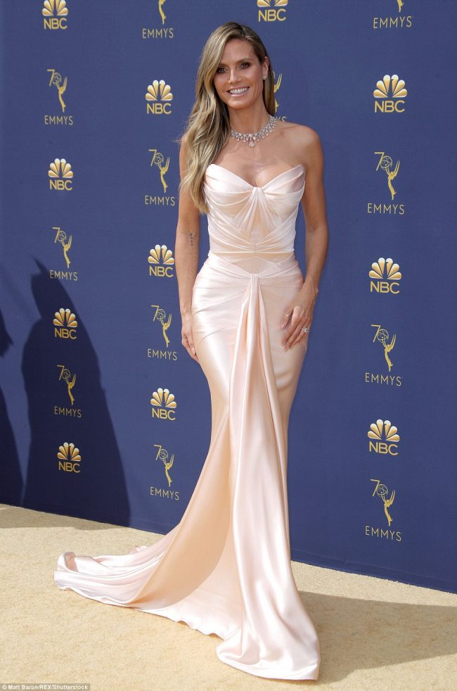 Heidi Klum Zac Posen Resort 2019 at 2018 Emmy Awards