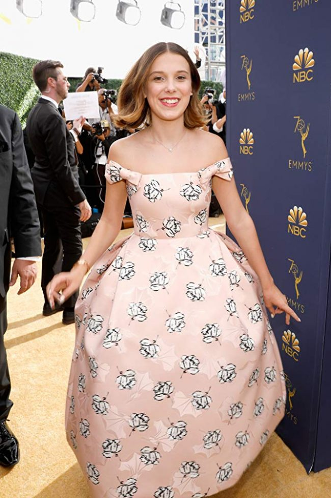 Millie Bobby Brown at 2018 Emmy Awards