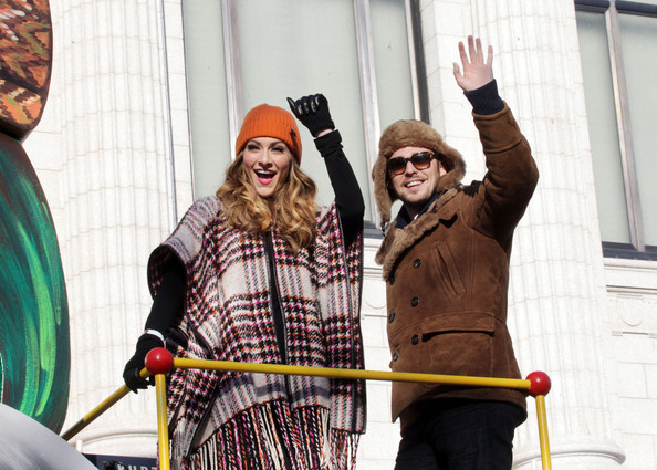 Karmin seen enjoying the Annual Macy's Thanksgiving Day Parade in New York City