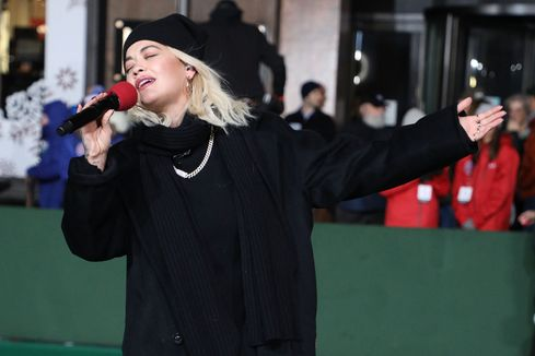 Rita Ora performs during Day 2 of the 2018 Macy's Thanksgiving Day Parade Rehearsals