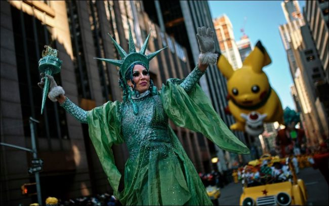 Lady Liberty came to life at the 2018 Macy's Thanksgiving Day Parade