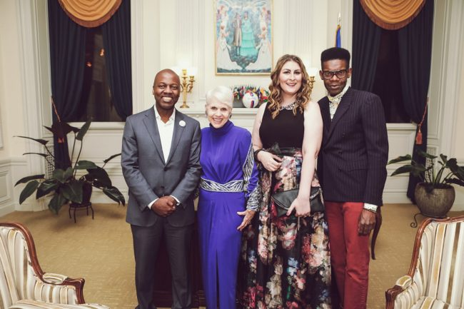 In October 2017 Ambassador Paul Altidor Honored Haitian-American Fashion Designer Victor Glemaud