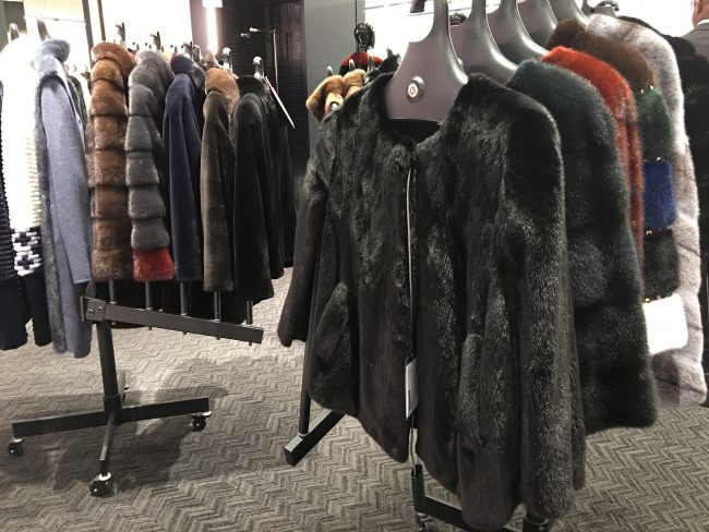 Shopping a fur sale in january