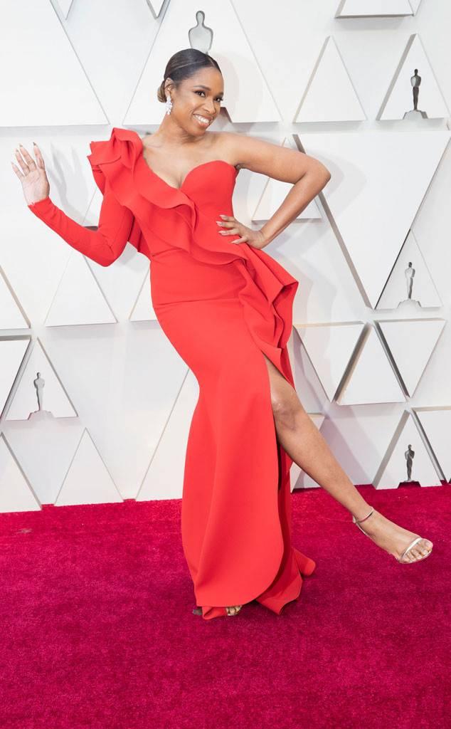 Jennifer Hudson in Elie Saab at the 2019 Oscars