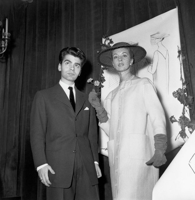 at age of 21, Karl Lagerfeld won first prize In the Coat Category at the Fashion Design Competition In Paris, on December 11, 1954
