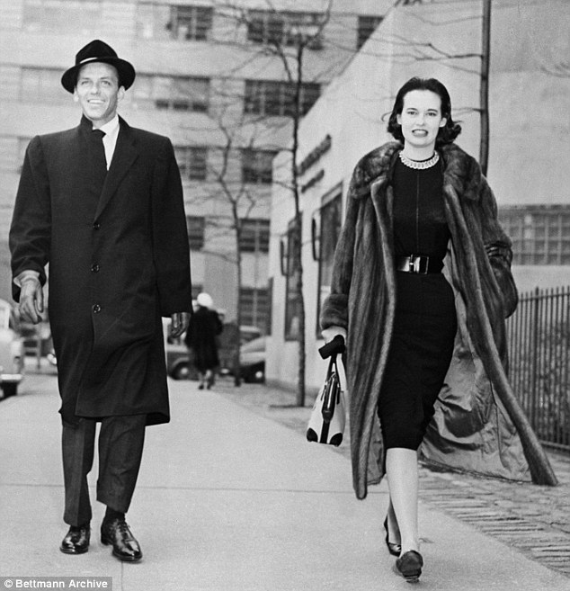 Gloria Vanderbilt with reported lover Frank Sinatra in 1957