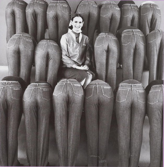 Gloria Vanderbuilt designer jeans - she introduced them in 1976 - among the earliest designer jeans to come out.