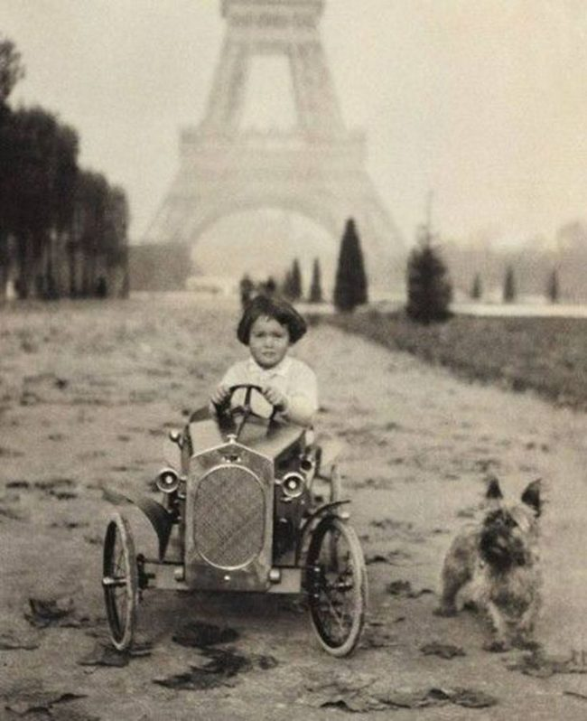 Little Gloria Vanderbilt in Paris, France