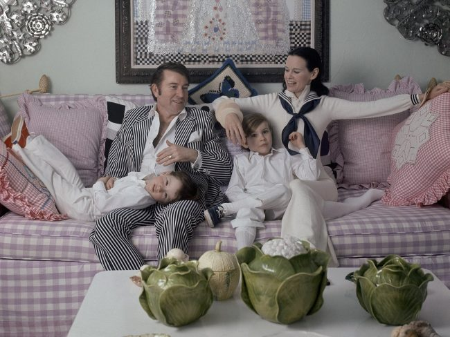 Vanderbilt with her fourth husband, Wyatt Emory Cooper, and their sons Carter Vanderbilt Cooper and Anderson Hayes Cooper