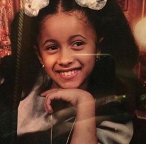 Cardi B when she was a kid